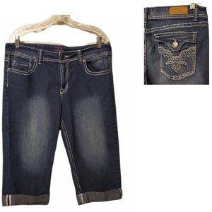 VGS Blue Jean Capri's      Size 14